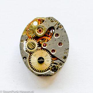 Steampunk ovaal dameshorloge uurwerk