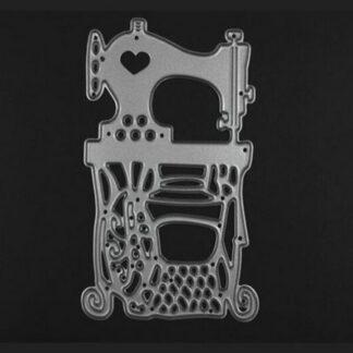 Steampunk stencil naaimachine