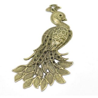 Steampunk pauw brons