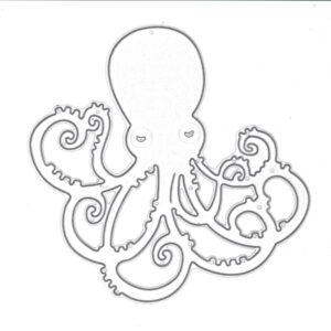Steampunk stencil octopus