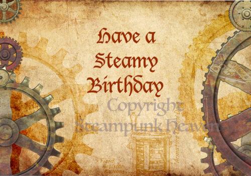 Steampunk wenskaarten set James