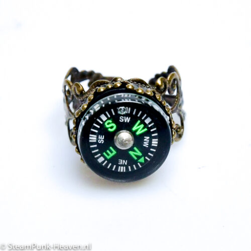 Steampunk ring 16