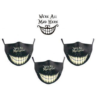 Steampunk gezichtsmasker-set Madhatter