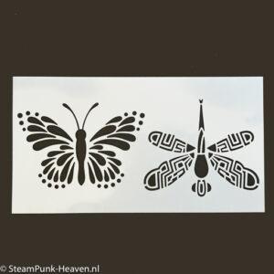 Steampunk stencil Lilac
