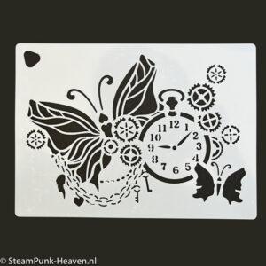 Steampunk stencil it's time