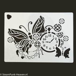 Steampunk stencil it's time