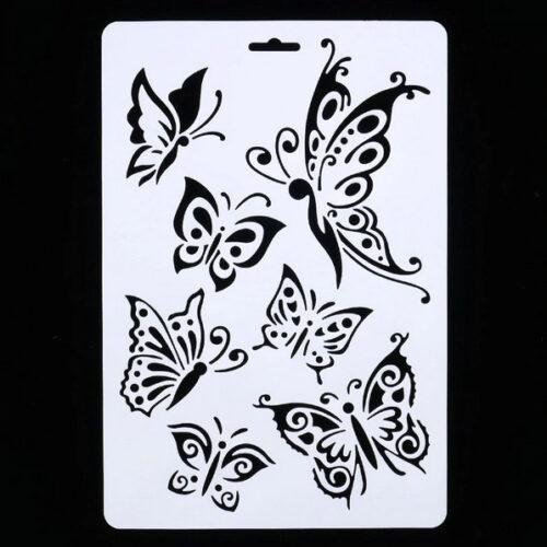 Steampunk stencil vlinders