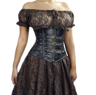 Steampunk kanten top Roxie