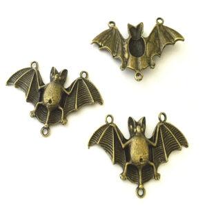 Steampunk vleermuis brons, set van 3 stuks
