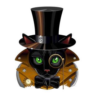 Steampunk stencil kat