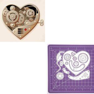 Steampunk stencil hart