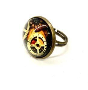 Steampunk ring 48